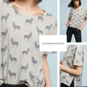 Postmarks {Anthro} zebra oversized short sleeve